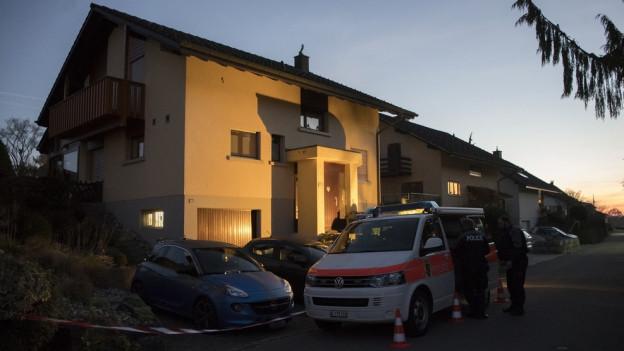 Das Einfamilienhaus in Suberg, in dem das tote Ehepaar gefunden wurde.