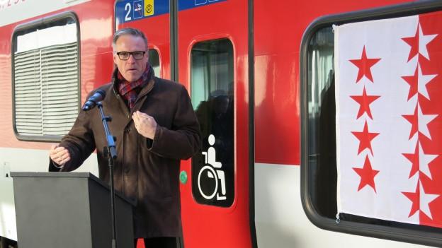 SBB-Chef Andreas Meyer spricht über den Fahrplanwechsel im Wallis.