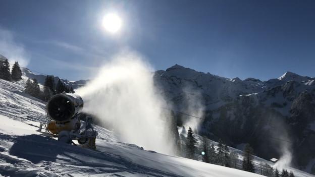 50 weitere Schneekanonen und 50 Sprühmaschinen sollen für Schneesicherheit am Betelberg sorgen.