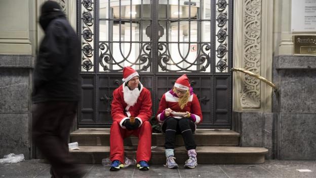 Santa Run in Bern 2017: Könnte vielleicht nun auch an Weihnachten selbst passieren.