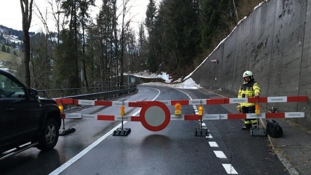 Die Strasse nach Adelboden ist noch bis Samstagmorgen gesperrt.