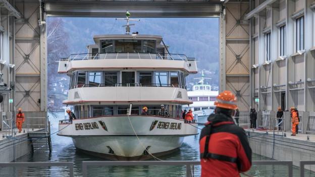 Die neue Werft am Thunersee ist in Betrieb.