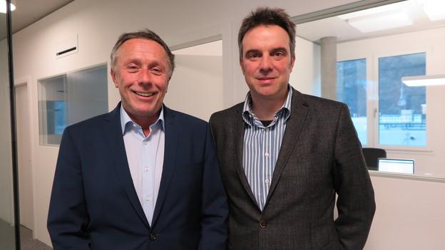 Fredy Bayard (links) übernimmt von Nicolas Mengis das Verwaltungsratspräsidium.