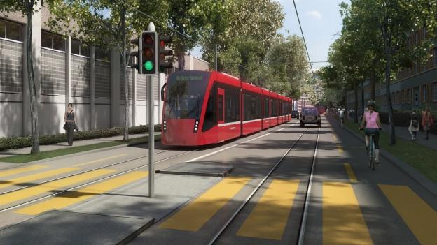 Das Tram soll von der Innenstadt via Viktoriastrasse (Bild) nach Ostermundigen führen.
