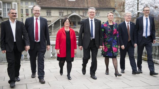 Der 7-köpfige Freiburger Staatsrat 2016