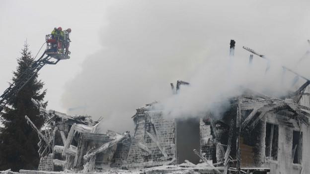 Das Hotel Kaiseregg wurde Opfer der Flammen.