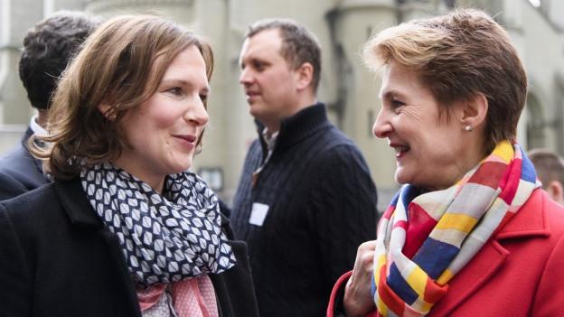 Die beiden am Berner Wahlsonntag vom 25. März 2018.