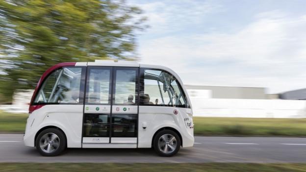 Der autonome Bus in Freiburg – ein Bild, welches ab 2019 auch in Bern zu sehen sein wird.