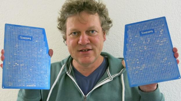 «Die Zeichnungen wurden Punkt für Punkt auf eine Titanplatte gelasert»: Physiker Guido Bucher.
