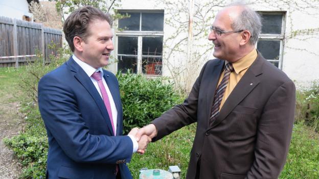 Manfred Raemy (links – seit gut einem Jahr im Amt) und Daniel Lehmann (21 Dienstjahre).