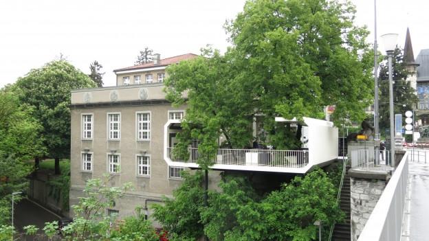 Die Kunsthalle mit ihrem temporären Jubiläumsanbau