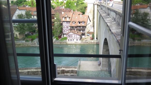 Die Aussicht aus dem neuen Mini-Hotel Richtung Altstadt.