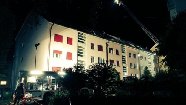 Brand in einem Mehrfamilienhaus in Bern