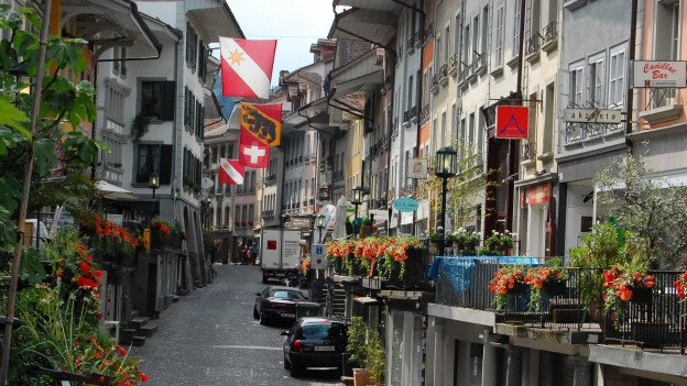 Die obere Hauptgasse in Thun