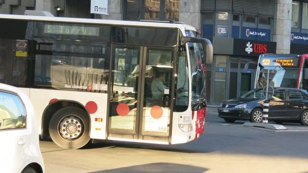 TPF-Bus im Freiburger Stadtzentrum