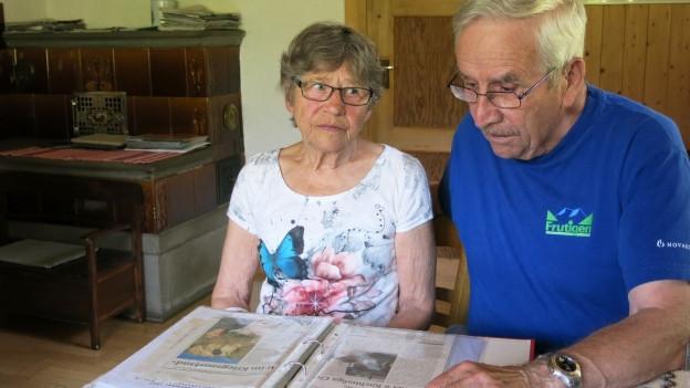 Regina Trachsel und ihr Mann Paul. Aus diesem Haus musste die heute 80-Jährige flüchten.