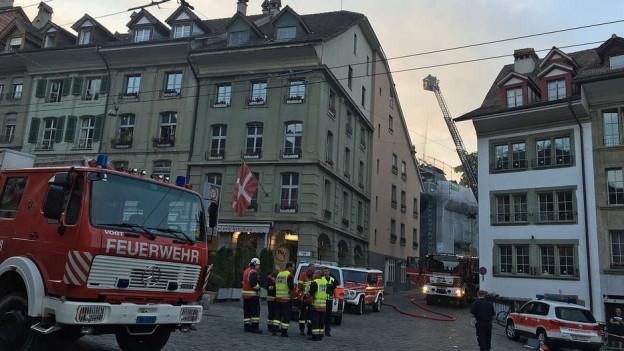 Der Brand in der unteren Altstadt von Bern.