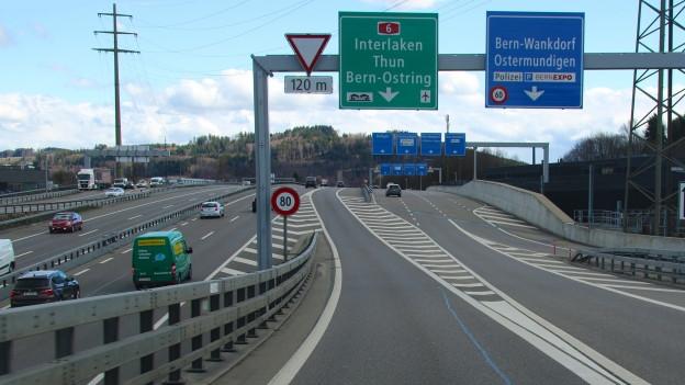 Ab sofort gilt beim Wankdorfdreieck wieder die alte Verkehrsregelung.