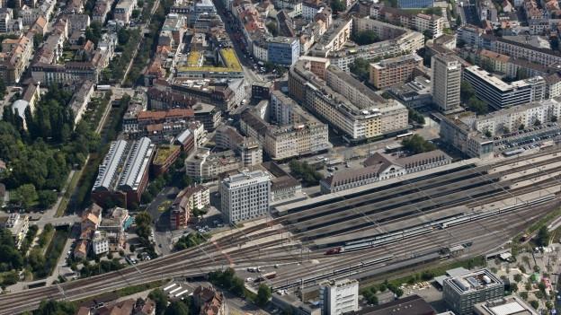Luftaufnahme Stadt Biel
