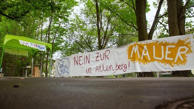 Der Altenberg in Bern will keine Mauer.