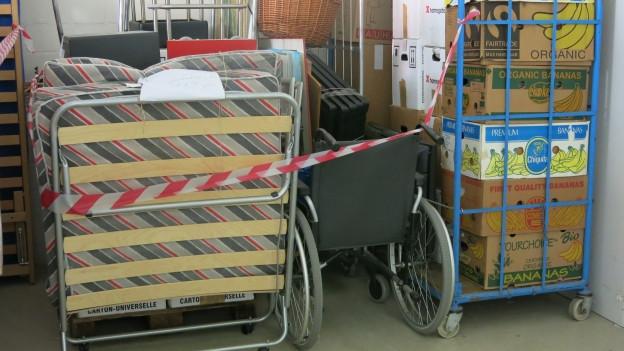 In einem Depot in Ittigen lagern die Effekte aus Zwangsräumungen.