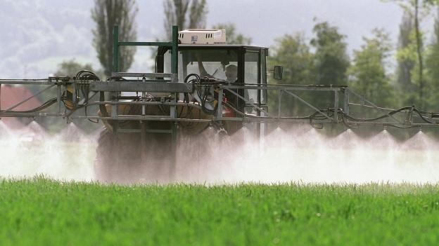 Die Pflanzenschutzmittel der Landwirtschaft belasten die Bäche.