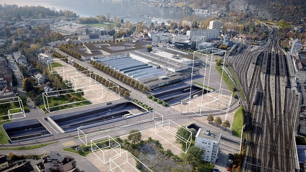 Visualisierung Autobahnanschluss Bienne-Centre