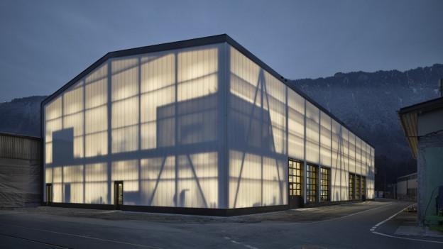 Werkstattgebäude in einer Visualisierung.