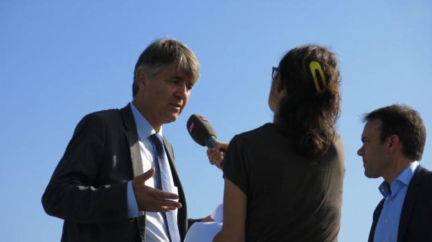 Lokaltermin auf der Gemeindegrenze: Alec von Graffenried (Bern) trifft Thomas Iten (Ostermundigen