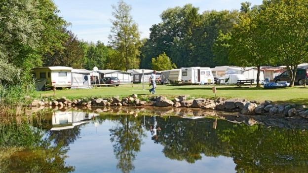 Der Campingplatz in Gampelen befindet sich in einem Naturschutzgebiet.