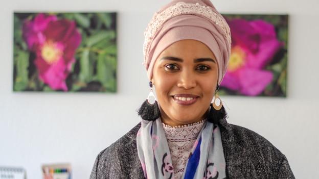 Abshira Mahamed ist eine der Müttern, die sich bei der beruflichen Integration helfen lässt.