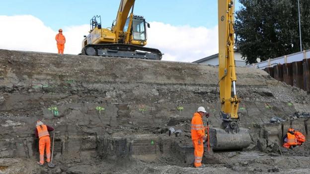 Archäologische Ausgrabung in Biel