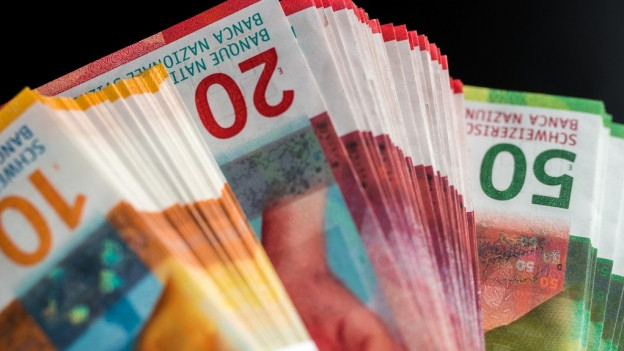 Bündel von Banknoten.