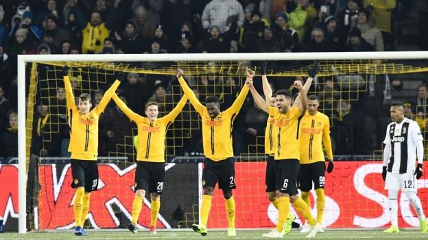 YB gewinnt gegen Juventus Turin