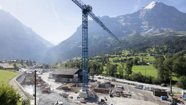 Bereits im Bau, jetzt ein Darlehen: Die V-Bahn Grindelwald.