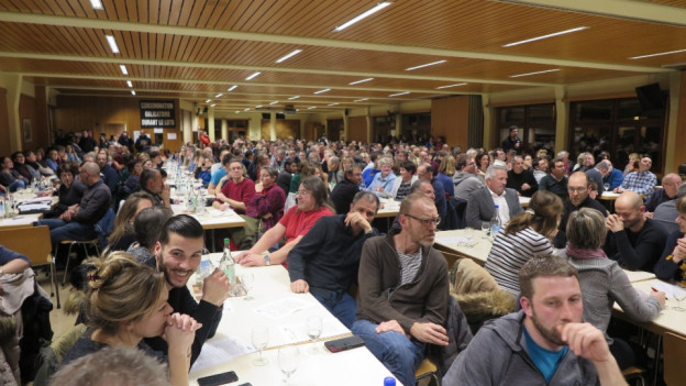 Rund 650 Personen kamen an die Generalversammlung des Staatspersonalverbands.