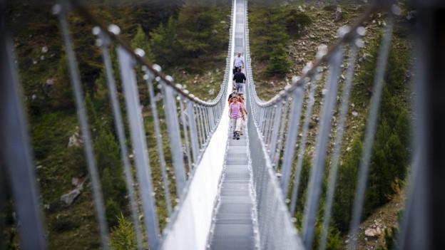 Über den Riderbach ist eine 180 Meter lange Hängebrücke geplant.