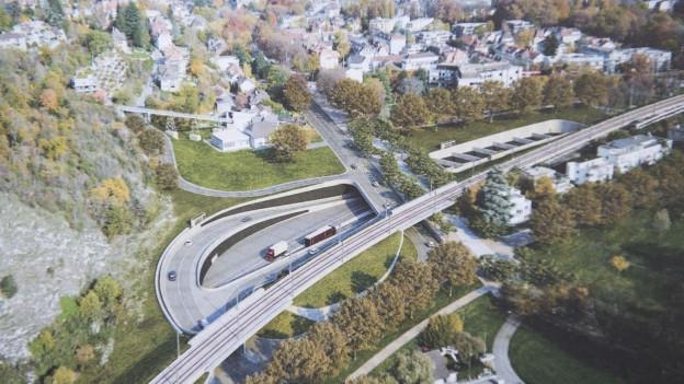 Visualisierung von Autobahn