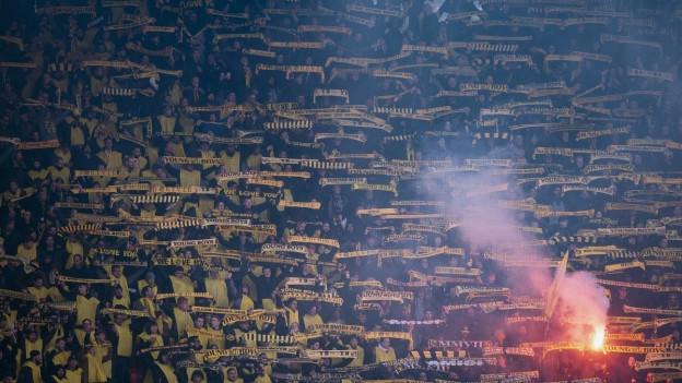 Mehrere Tausend YB-Fans sind nach Zürich gereist.