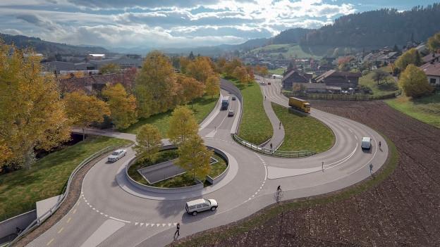 So könnte es einst aussehen zwischen Oberburg und Burgdorf.