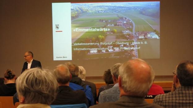 Rund 70 Personen liessen sich in Burgdorf über die Pläne informieren.