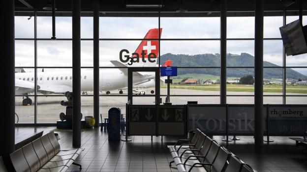 Wartehalle des Flughafens Bern