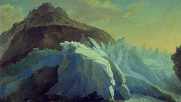Gletscher auf einem Ölgemälde