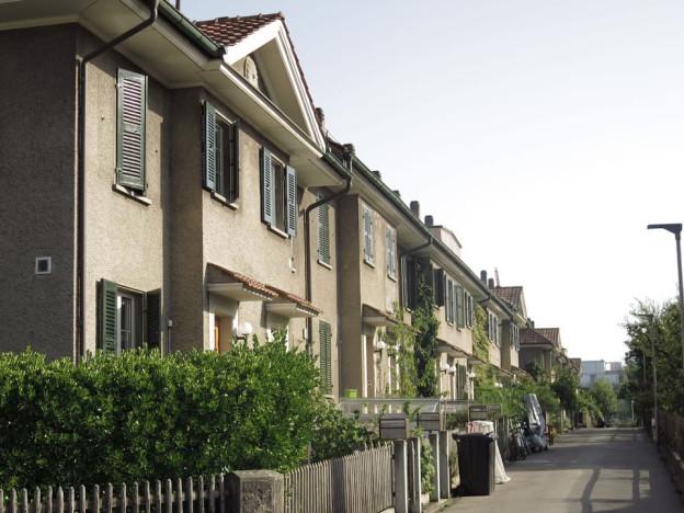 Reiheneinfamilienhäuser: Das Eisenbahnerquartier heute.