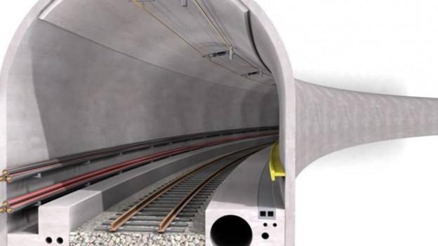 So könnte der Tunnel im Querschnitt aussehen.