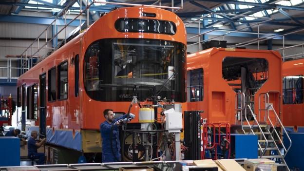 Die Worbla-Züge werden von Stadler Rail produziert.