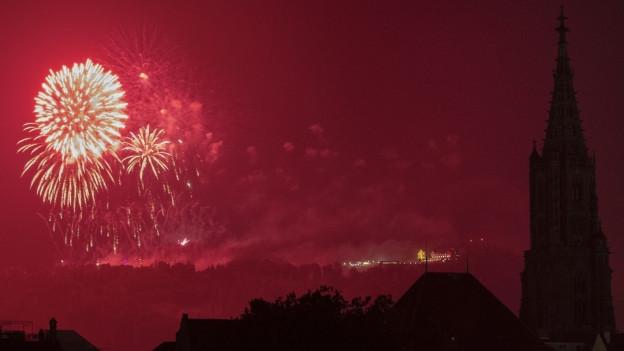 Das Feuerwerk wurde auf dem Berner Gurten gezündet.