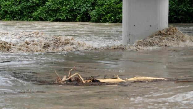 Ein Gewitter sorgte für Hochwasser und für den Murgang.