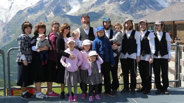 Viele Gäste im Saastal sind orthodoxe Juden.