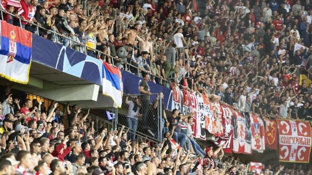 Belgrad-Fans hielten die Polizei in Bern auf Trab.